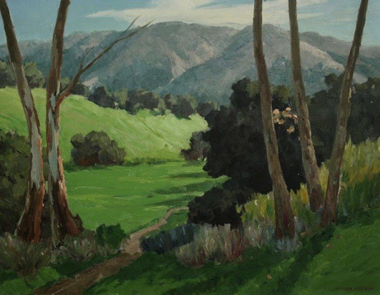 """8: Matson Victor (American 1895-1950) """"Spring Time"""", oi"""