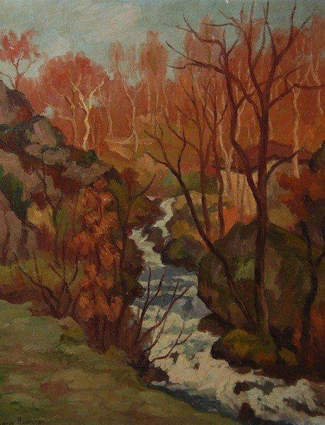 """11: Roustan Emile (French 1877- 1959) """"Le Ruisseau"""", oi"""