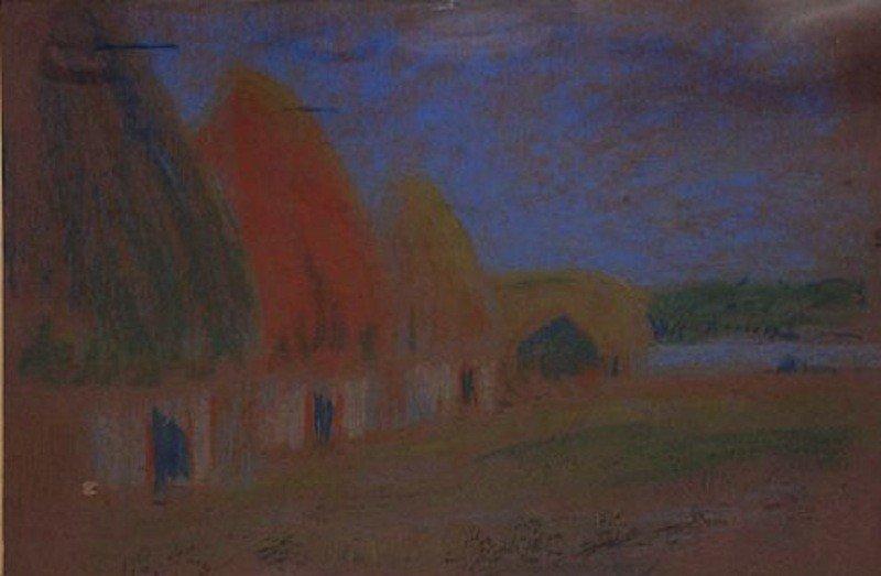 "13:  Dwight Williams (American 1856-1932) ""Grassy Hut"","