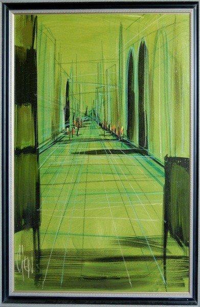"""18: Gien untitled, oil on canvas, 44"""" x 32"""" framed: 48."""