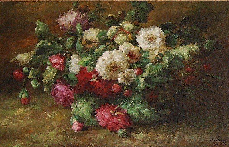 "21: Williiam ""Flowers"", oil on canvas, 22.5 ""x 36"" fram"