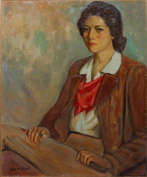 "24: Rich John Hubbard (American 1876-1955) ""Portrait"","