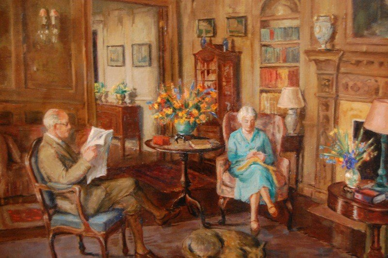 "80: Phelps Edith Catlin (American 1879-1961) ""The Room"""
