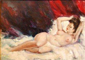 """4: Bacci Baccio Maria  (Italian 1888-1974)  """"Reclining"""