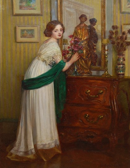 "6: Barbut-Davray Luc (1863-1926) ""Lady of the house"""