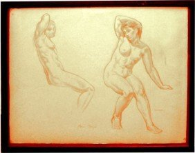 "16: Carré Ben (French 1893-1978) ""Figure Study"""