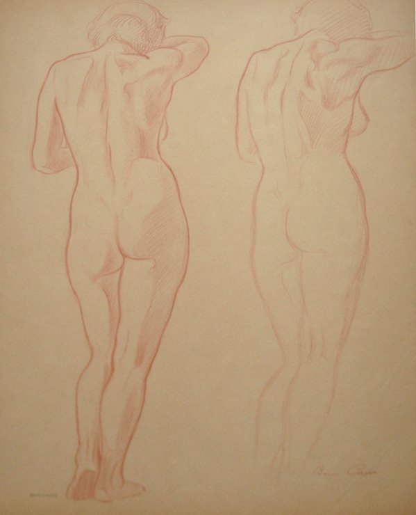 "17: Carré Ben (French 1893-1978) ""Figure Study: Woman's"