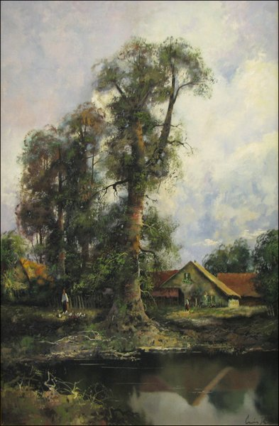 "47: Klein Ludwig  ""River Landscape With A House"""