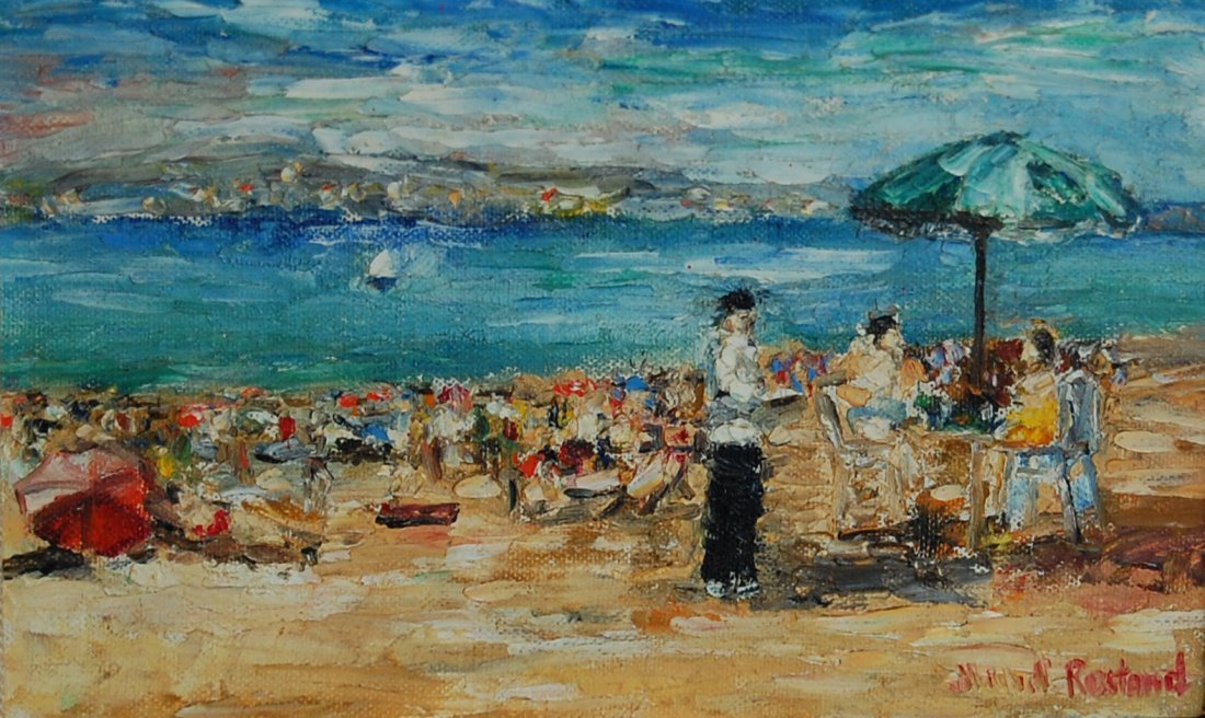 "54: Rostand Michel (French 1895- 1976)  ""Beach"""