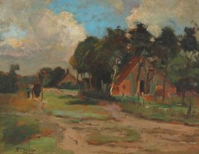 Tokens Roef (Dutch 19th Century) ��The Farm""