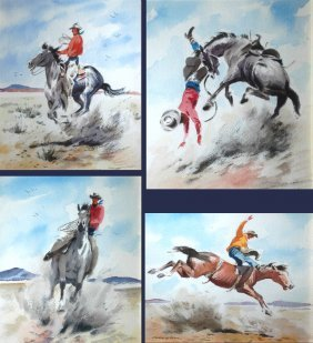 Long Stanley (American 1892-1972) Set Of 4 Painting