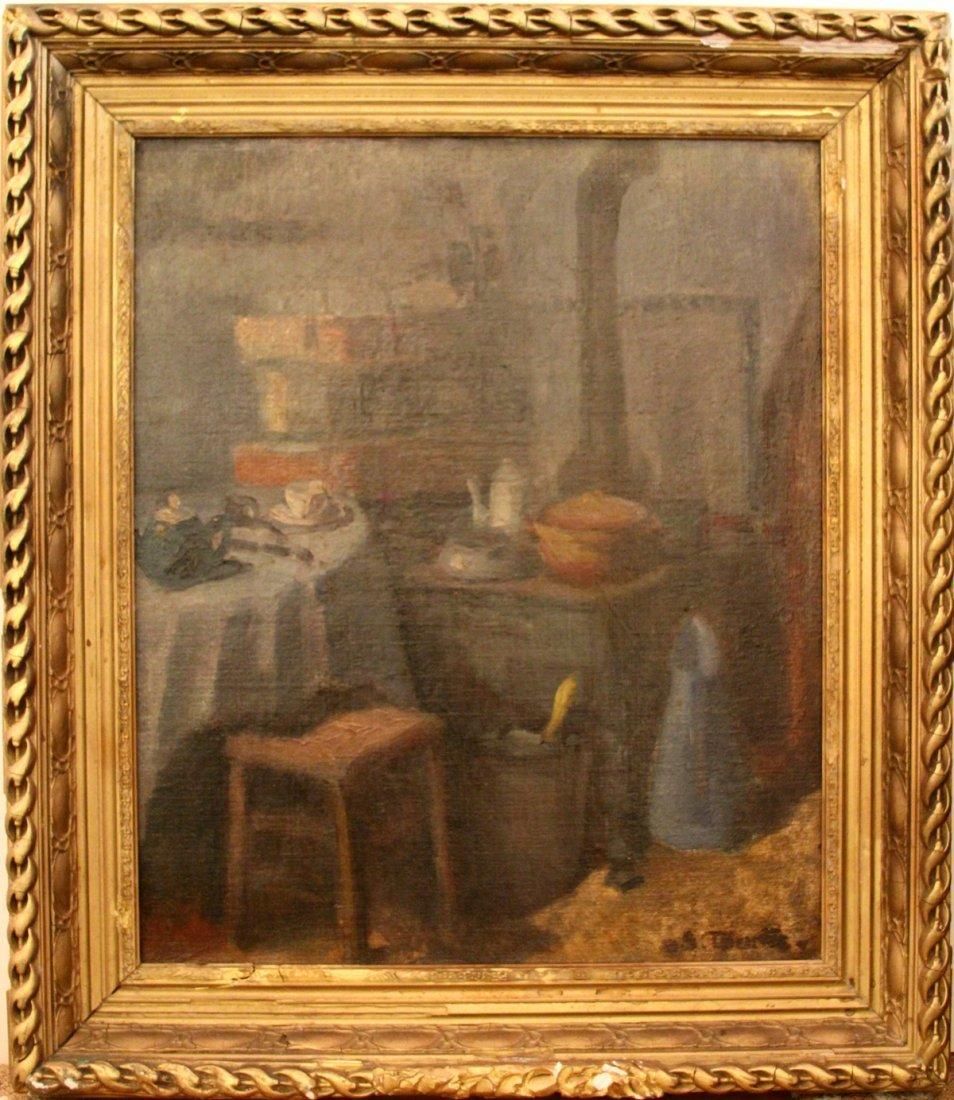 "78:  Tourte Suzanne (French 1904-1979) ""Kitchen Interio"