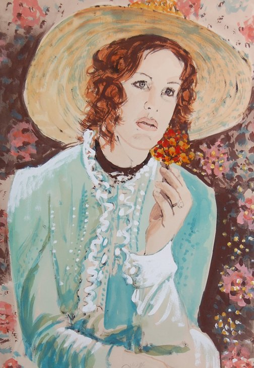 "80: Azene Arie (German born1934) .''Portrait Of A Lady"""