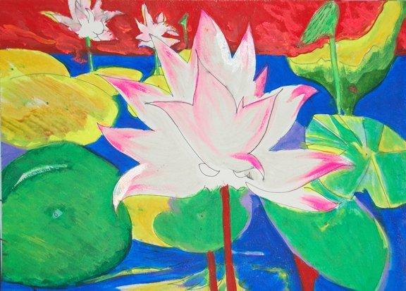"83: Boyce John (American 20th century) ""Lotus Flower in"