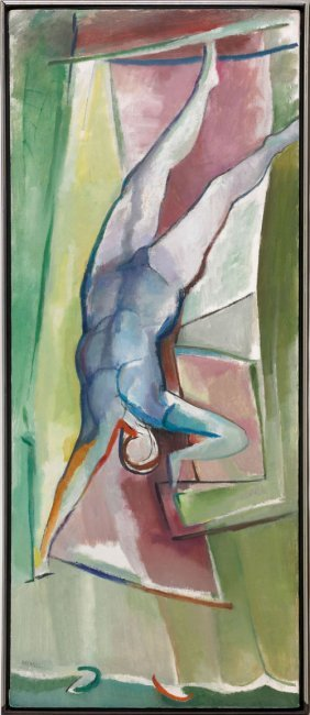 Reinsel Walter Newton (American 1905-1979)  �Flying