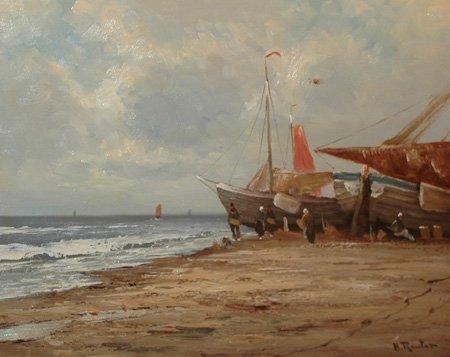 "96: Reuter Helmut (German born1913) ""The Fishing Boat"""