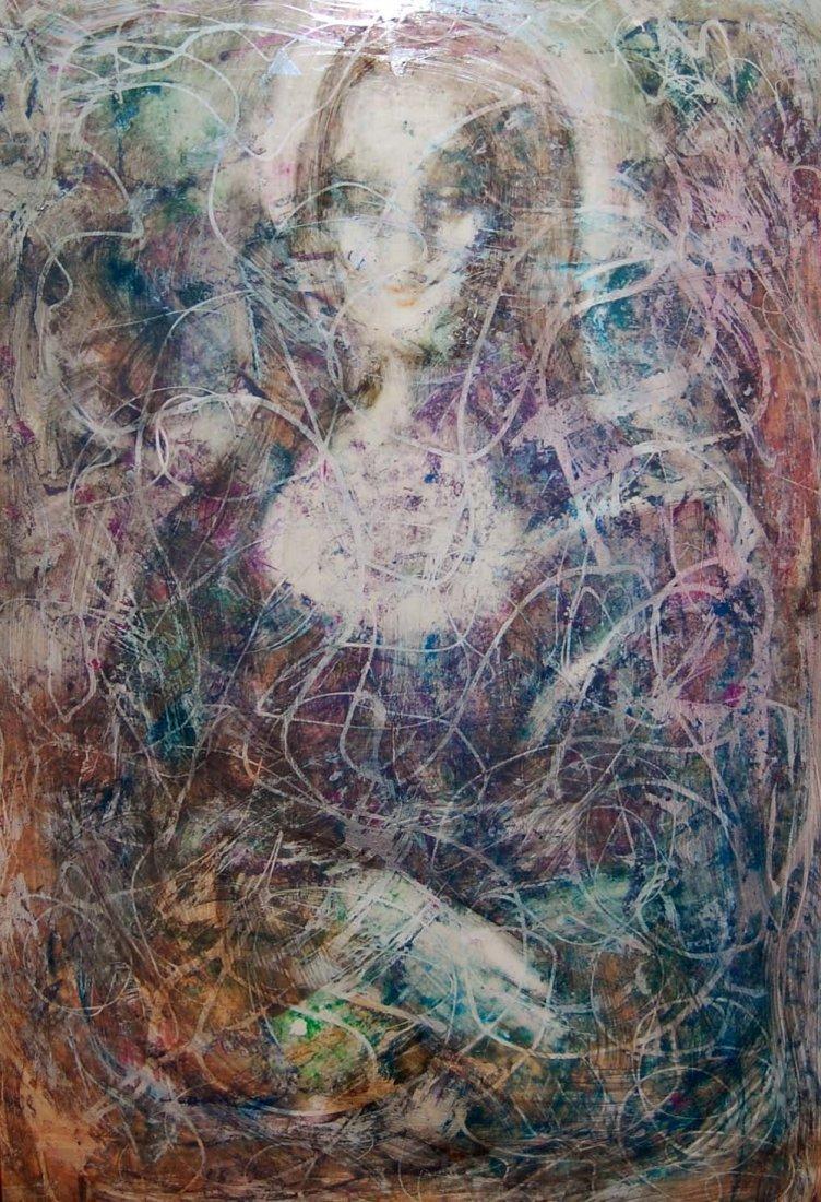 """104: Hovik Kochinian (Born 1953) """"Abstract Mona Lisa"""""""