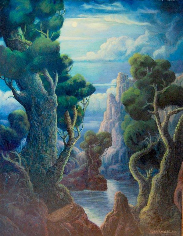 """Waddell Harry M (American 1876-1956) """"Moonlight Sonata"""""""