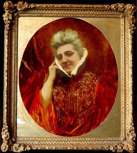 """6: Constant Benjamin (1845-1902)  """"Portrait"""""""