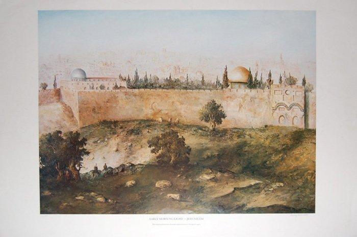 """Henry D. """"Early Morning Light- Jerusalem"""""""