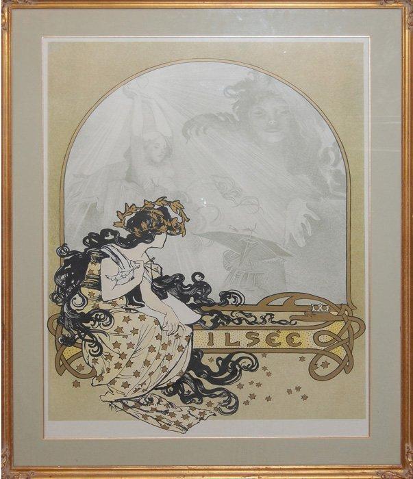 """Mucha Alfons (Czech 1860-1939) """"Ilsée"""""""