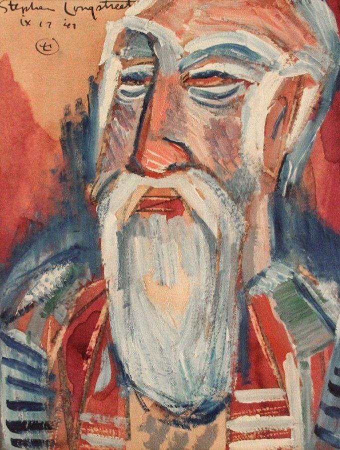 """Longstreet Stephen (American 1907-2002) """"Teacher I"""""""