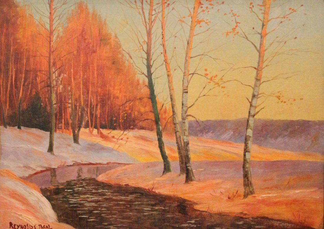 "Beal Reynolds  (American 1867-1951)  ""Winter Landscape"""