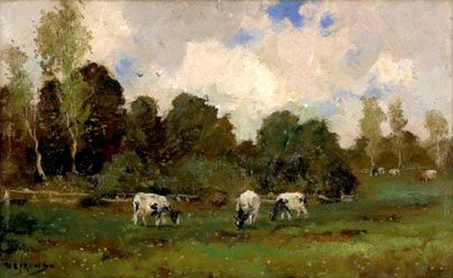 Nefkens Martinus Jacobus (Dutch 1866-1941) ''Cows...