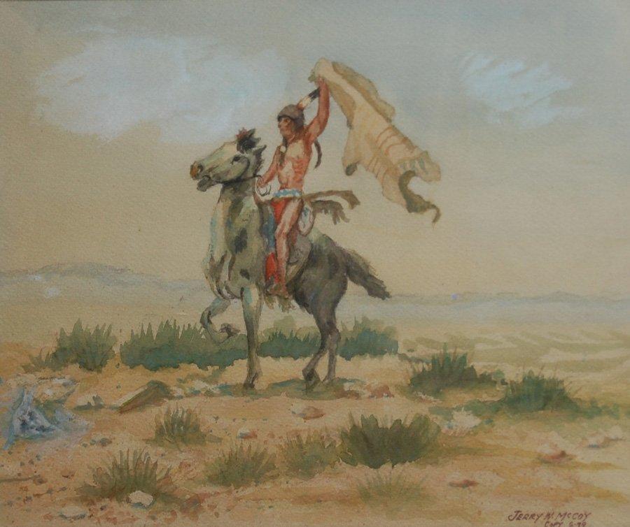 "McCoy Jerry (American 20thc)  ""Triumphant Horse Ride"""