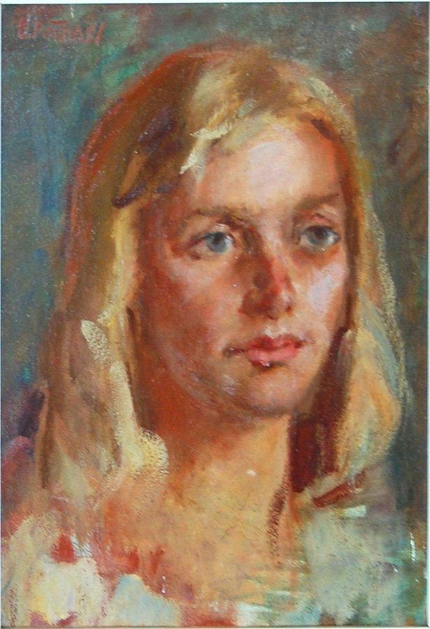 "Edward Henry Potthast (American 1857 -1927)  ""Portrait"""