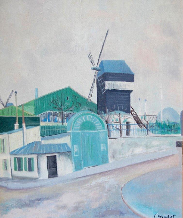 Maclet Elisée (French 1881-1962) ''Le Moulin de...