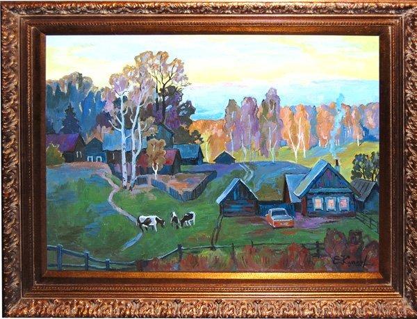 Kouptsov Eghor (Russian Born 20th c)  oil on canvas