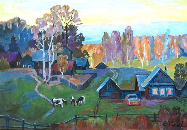 Kouptsov Eghor (Russian Born 20th c)  oil on canvas - 2