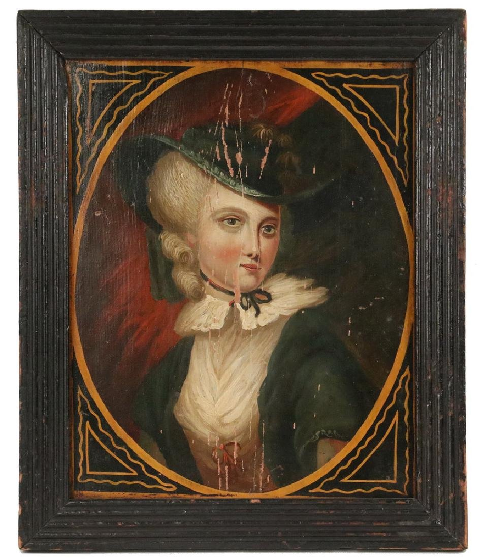 18TH C. BRITISH FOLK ART PORTRAIT