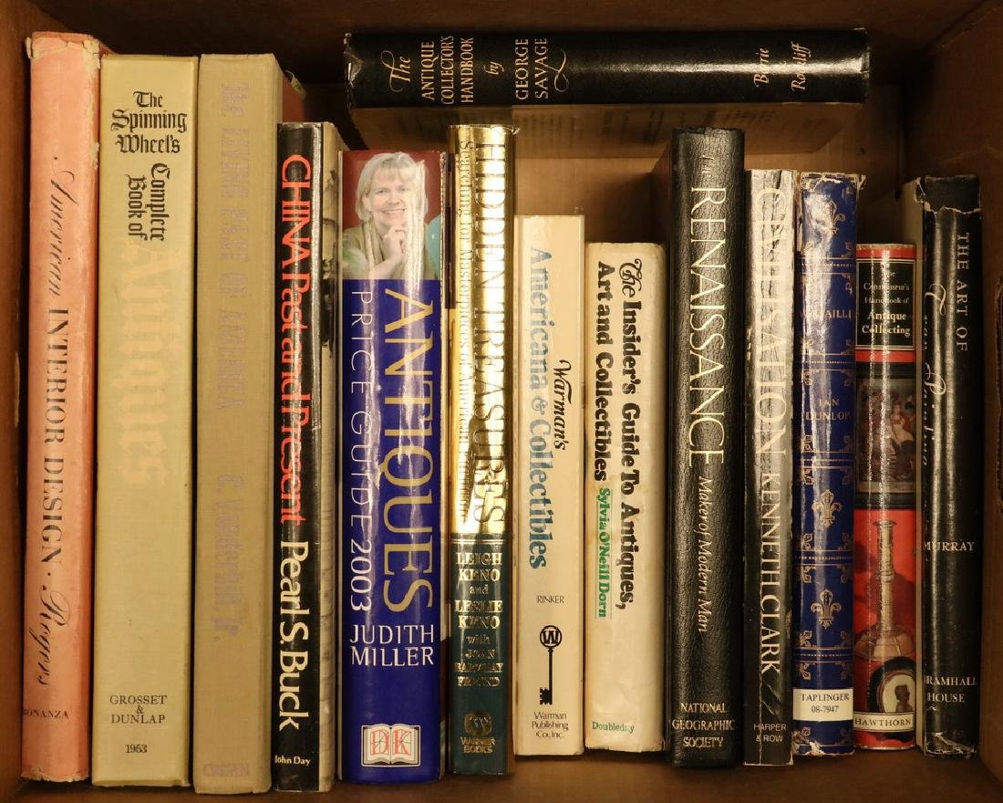 (14) BOOKS ON ANTIQUES AND HISTORY