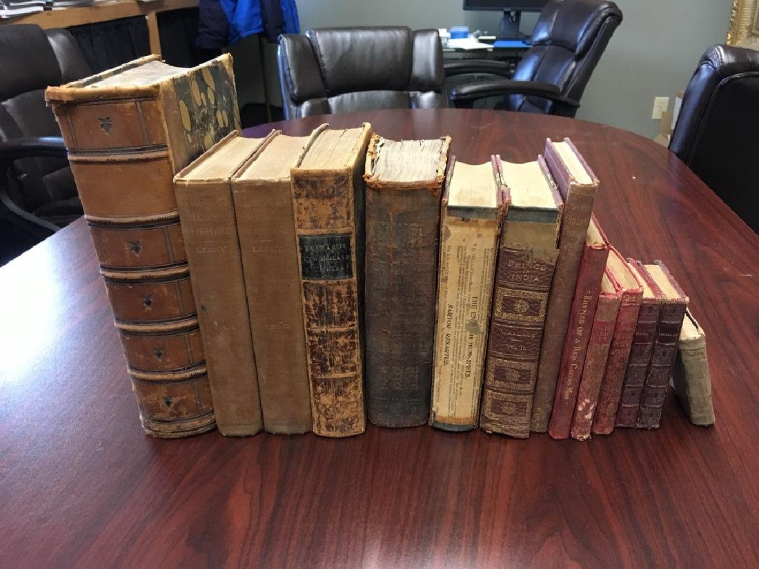 (12) EARLY TITLES, MOSTLY LEATHERBOUND - 2