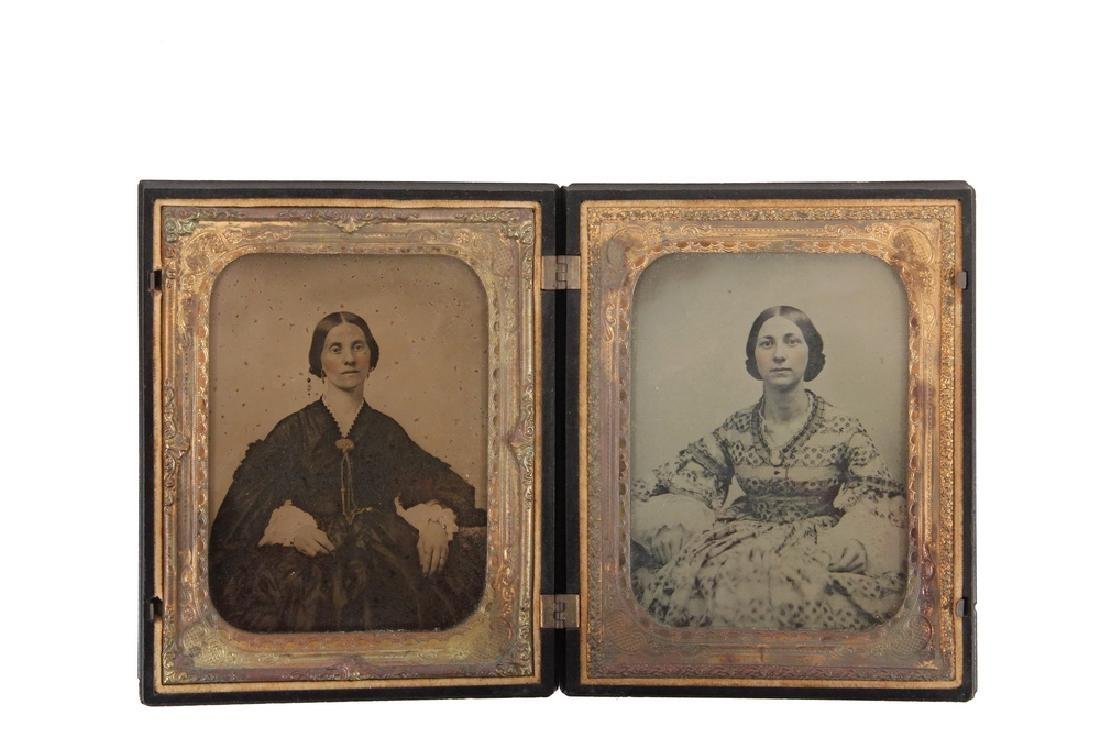 HALF PLATE UNION CASE WITH AMBROTYPES