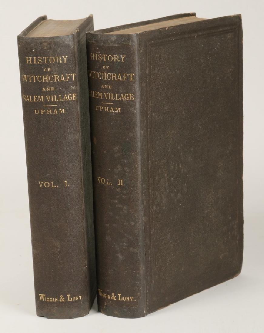 BOOKS: 2 VOLS. HISTORY OF WITCHCRAFT IN SALEM