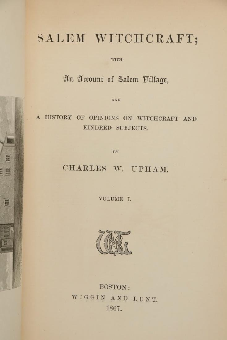 BOOKS: 2 VOLS. HISTORY OF WITCHCRAFT IN SALEM - 2