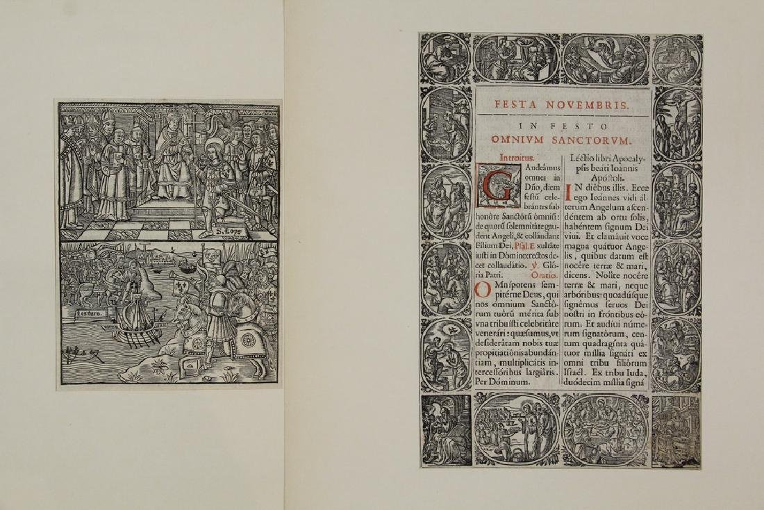 (2) WOODCUT BOOK PAGES