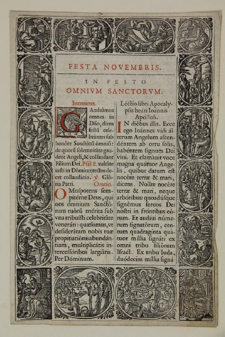 (2) WOODCUT BOOK PAGES - 3
