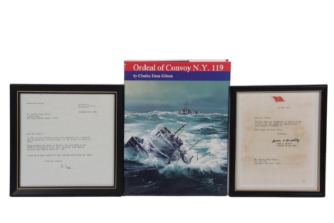 WWII US CONVOY BOOK W/ BRADLEY & ROGGE LETTERS