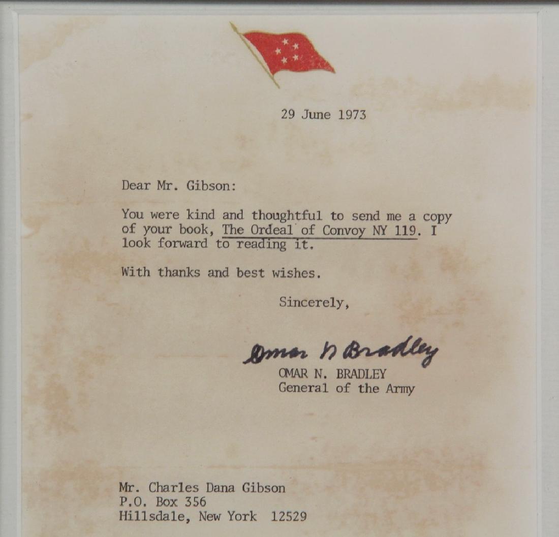 WWII US CONVOY BOOK W/ BRADLEY & ROGGE LETTERS - 3