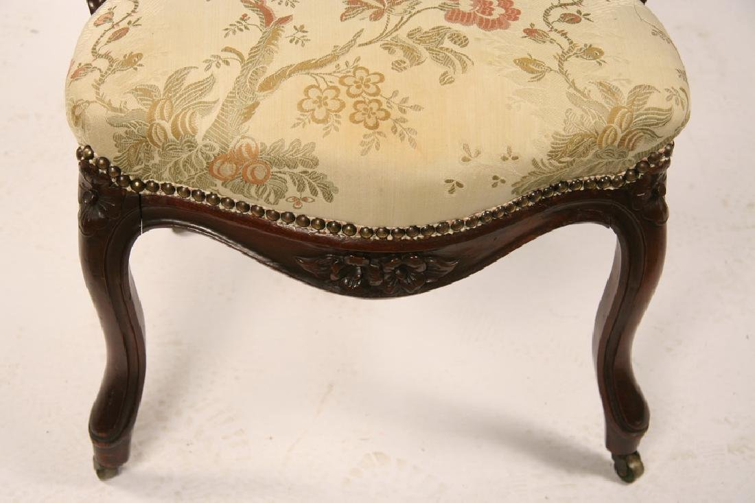 VICTORIAN LADY'S PARLOR CHAIR - 3