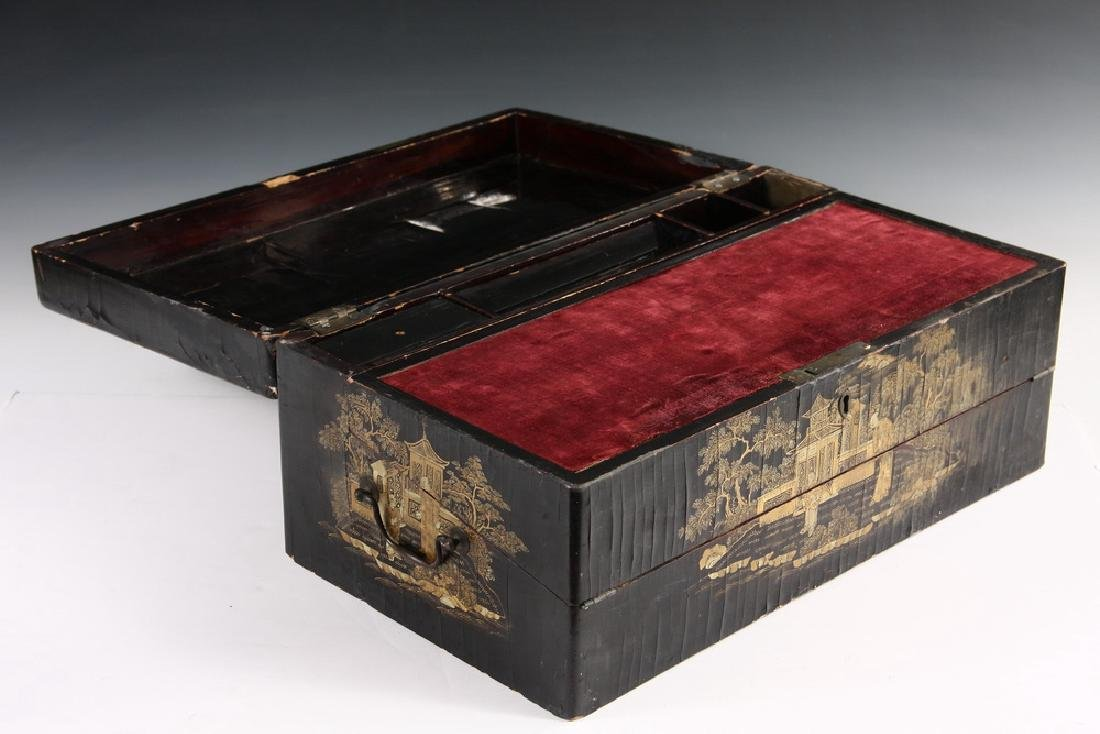 JAPANESE LACQUER WRITING BOX - 3