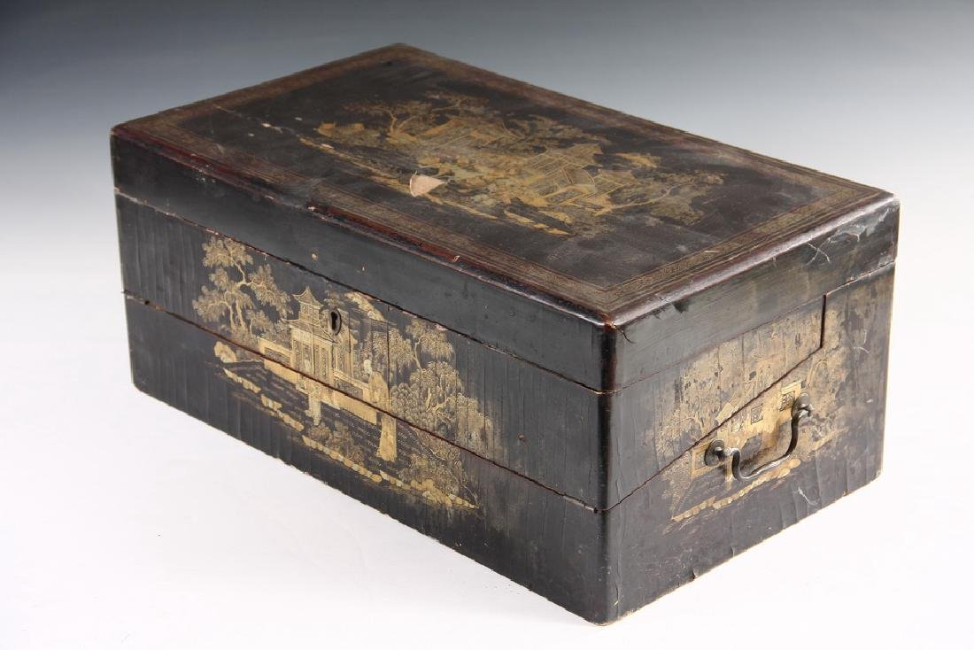 JAPANESE LACQUER WRITING BOX - 4
