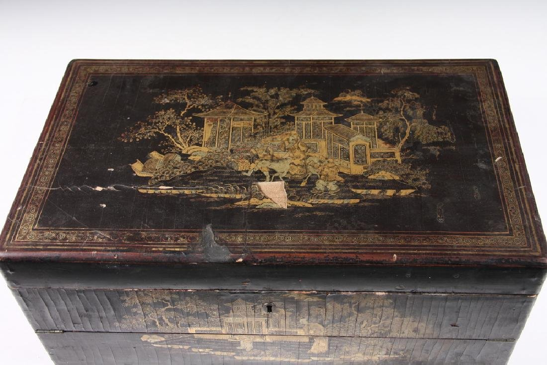 JAPANESE LACQUER WRITING BOX - 5