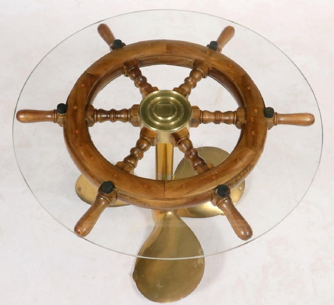 SHIP'S WHEEL COFFEE TABLE - 2