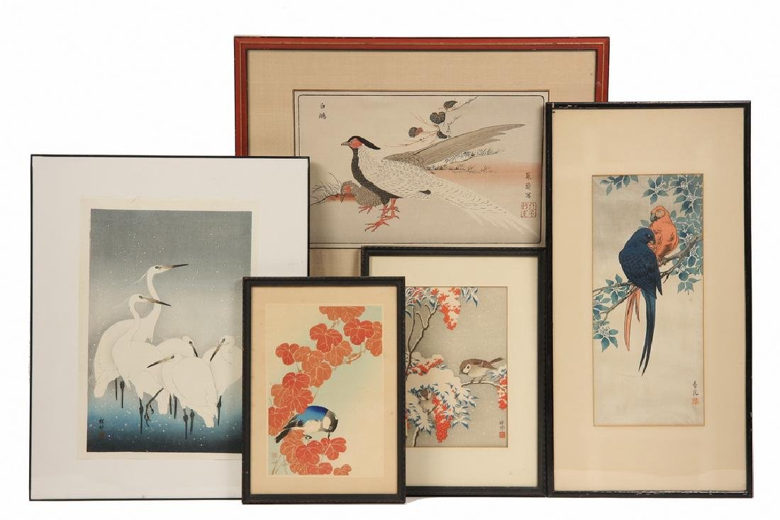 (8) JAPANESE WOODBLOCKS