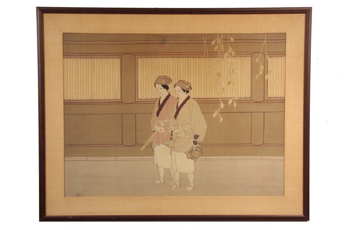 JAPANESE PRINT ON SILK